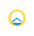 mountain logo design template graphic vector image vector image