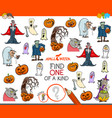one of a kind activity game with halloween vector image vector image