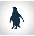 Penguin black silhouette vector image