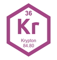 Periodic table krypton vector image vector image