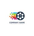 pixel art video logo icon design vector image vector image
