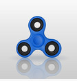 realistic fidget spinner with mirror reflection vector image