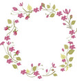 red flower frame and border background vector image vector image