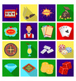 roulette cards croupier alcohol and other vector image