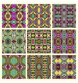 seamless colored vintage geometric pattern vector image vector image