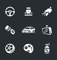set auto tuning icons vector image