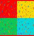 set bright colorful confetti and serpentine vector image
