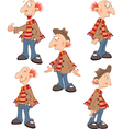 Set Cute Senior for you Design Cartoon Character vector image vector image