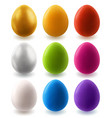set easter colorful eggs isolated on white vector image vector image