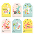 set isolated gift tags with easter bunny vector image vector image