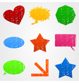 shapes icons vector image vector image