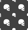 Skull sign Seamless pattern on a gray background vector image vector image
