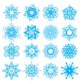 snow-flakes vector image vector image