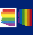 spectrum pixel dotted arizona state map vector image