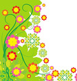 Springtime greeting card flower background vector image vector image