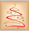 stylized fir vector image vector image