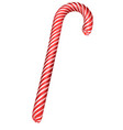 sweet striped candy lollipop cane symbol accessory vector image vector image