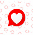 the red heart icon design with on a seamless vector image vector image