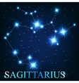 the sagittarius zodiac sign of the beautiful vector image