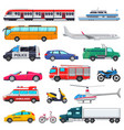 transport public transportable vehicle vector image