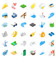 travel icons set isometric style vector image
