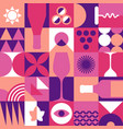 wine seamless pattern in geometric repetitive vector image
