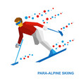 winter sports - para-alpine skiing vector image vector image