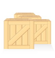 wood box isolated vector image