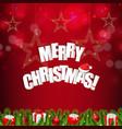 xmas red card christmas stars vector image vector image