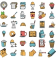 Food flat color icons collection vector image
