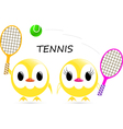 chick tennis vector image