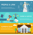 Law banner vector image