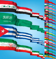 set 5 of world flags vector image