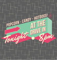 1950s Drive-In Style Logo Design vector image vector image