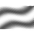 3d abstract bw halftone modern dotted back vector image