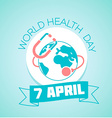 7 April World Health Day vector image vector image