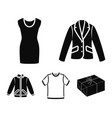 a mans jacket a tunic a t-shirt a business suit vector image vector image