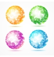 Abstract Sphere Colorful Set vector image vector image
