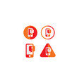 alert notification icon logo vector image
