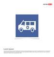 ambulance icon - blue photo frame vector image vector image