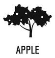 apple tree icon simple black style vector image