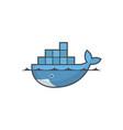 astana kazakhstan -20 july 2020 docker icon vector image vector image
