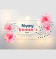 beautiful womens day lovely rose background vector image vector image