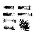 black ink spots set on white background ink vector image vector image