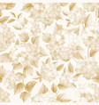 blooming flower of golden hydrangea on white vector image