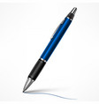 blue tilt pen on white vector image vector image