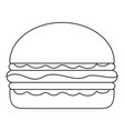 burger icon outline style vector image vector image