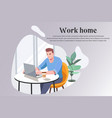 businessman working at home cartoon style vector image vector image