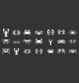 cancer icon set grey vector image vector image