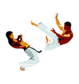 Capoeira fighters vector image vector image
